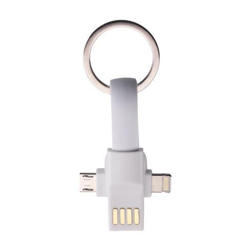 Connection 3-i-1 nøglering med ladekabel