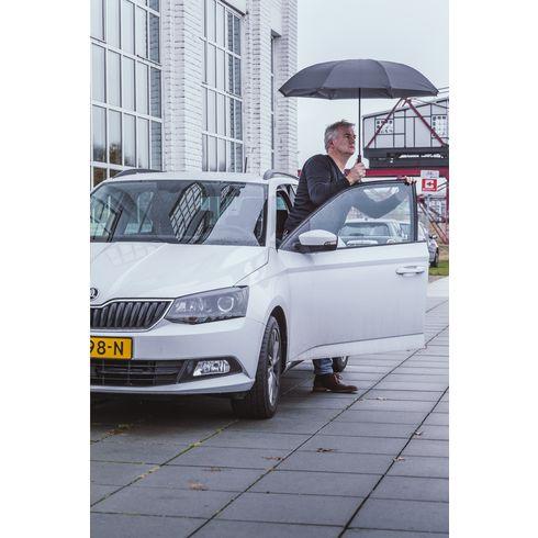 Hurtigttørrende og vendbar paraply med logo
