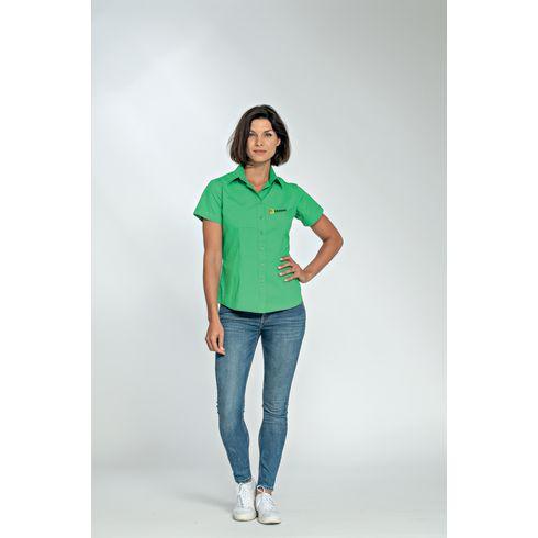 L&S Poplin Shortsleeve Shirt dame skjorte