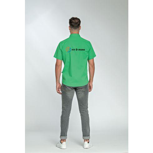 L&S Poplin Shortsleeve Shirt herre skjorte