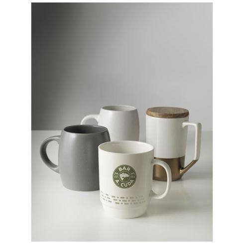 Tahoe te og kaffe keramikkrus med træ låg