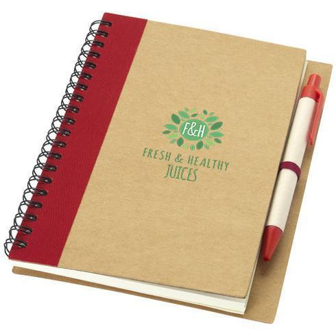 Priestly notesbog af genbrugsmaterialer med kuglepen