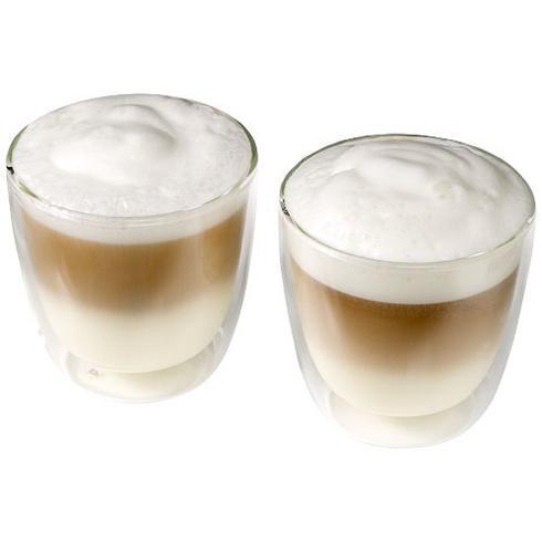 Boda kaffesæt i glas med 2 dele