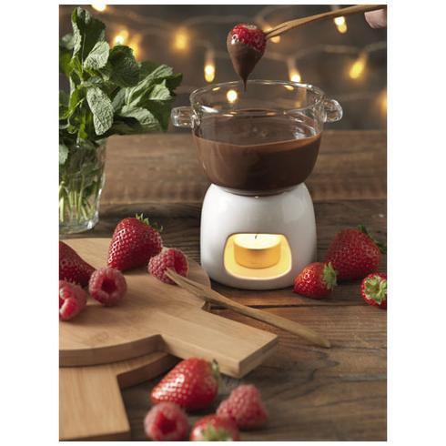 Belgium chokoladefondue-sæt i glas