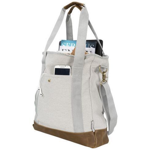 Harper mulepose af bomuldslærred m. lynlås