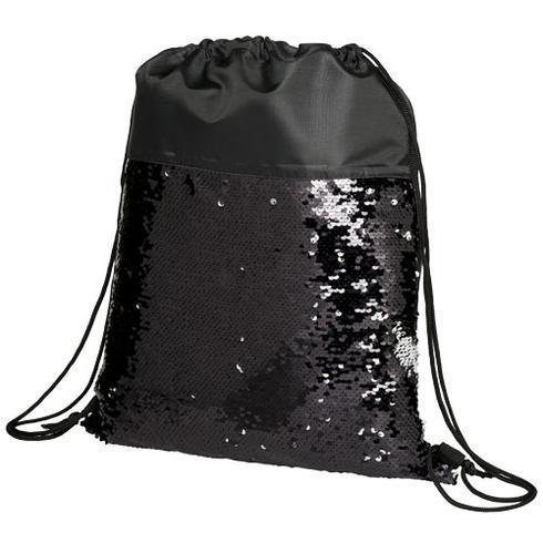 Mermaid bæretaske med snorelukning og pailletter