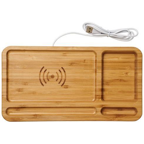 Frame skrivebordsbakke med trådløs opladning