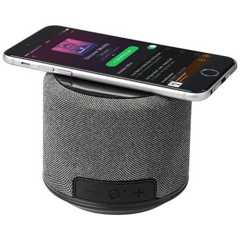 Fiber Bluetooth®-højttaler med trådløs opladning