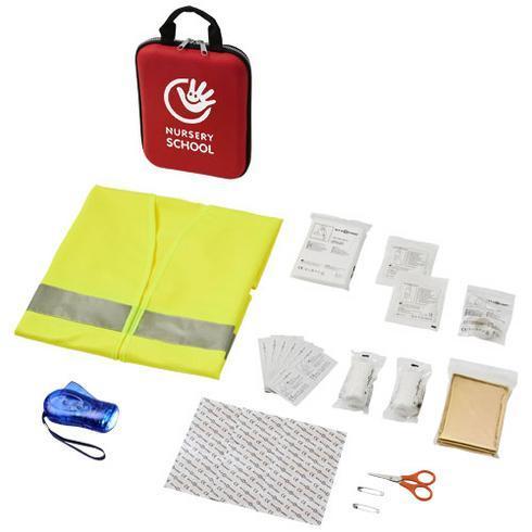 Handies førstehjælpstaske med 46 dele og refleksvest