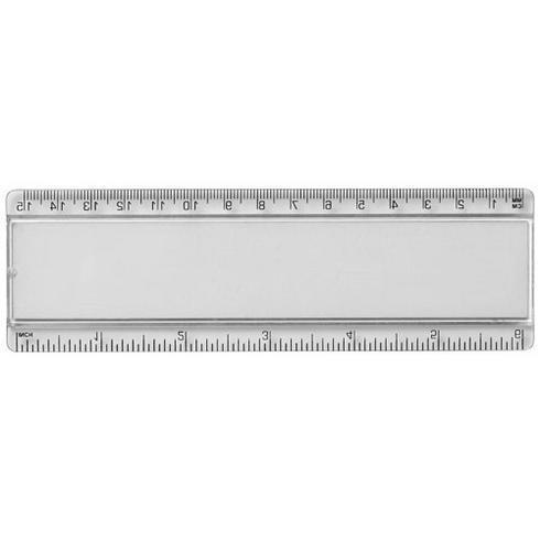 Ellison 15 cm plastiklineal med papirindsats