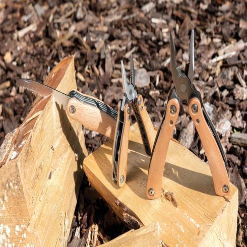 Lommekniv med træsider